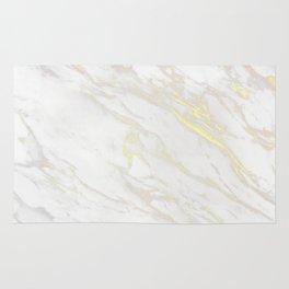 Gold & White Marble Rug