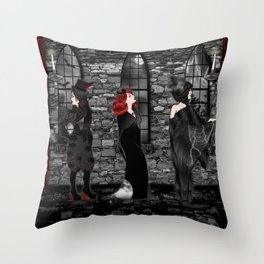 Queens of Goth Throw Pillow