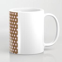 Pink & Brown dot Coffee Mug