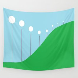 Abstract Landscape - Lights on the Hill Wall Tapestry