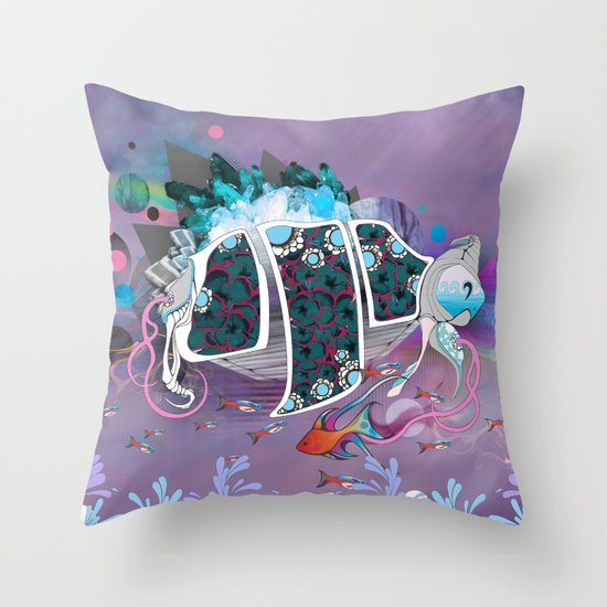 Old Elsie and the Storm Throw Pillow