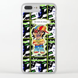 The 80's War On Drugs Remixed Clear iPhone Case