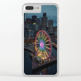 The Great Wheel Clear iPhone Case