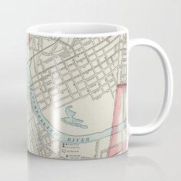 Vintage Map of Nashville TN (1901) Coffee Mug