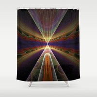 pee wee Shower Curtains featuring Tee-Pee by Tina Sieben
