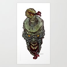 Heads of the Living Dead  Zombies: Zit Zombie Art Print