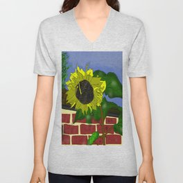 Thee Sunflower by Mgyver Unisex V-Neck