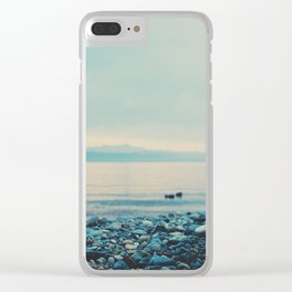 as the sun goes down ... Clear iPhone Case