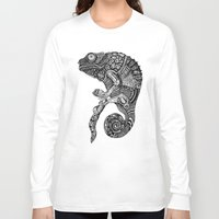 chameleon Long Sleeve T-shirts featuring Chameleon  by Ejaculesc
