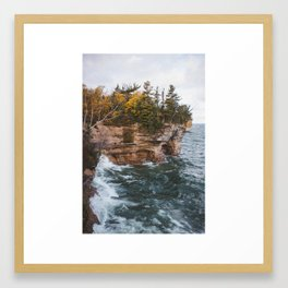 Indian Drum   Pictured Rocks National Lakeshore, Michigan   John Hill Photography Framed Art Print