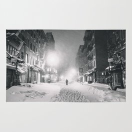 Alone in a Blizzard - New York City Rug