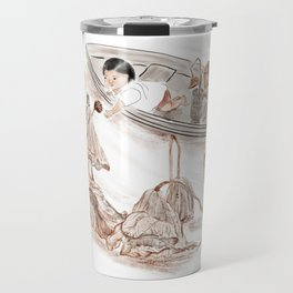 Girl and withered lotus Travel Mug