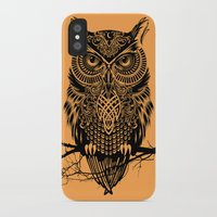 warrior iPhone & iPod Cases featuring Warrior Owl 2 by Rachel Caldwell