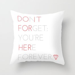 """Do it for her"" - Homer Simpson Throw Pillow"