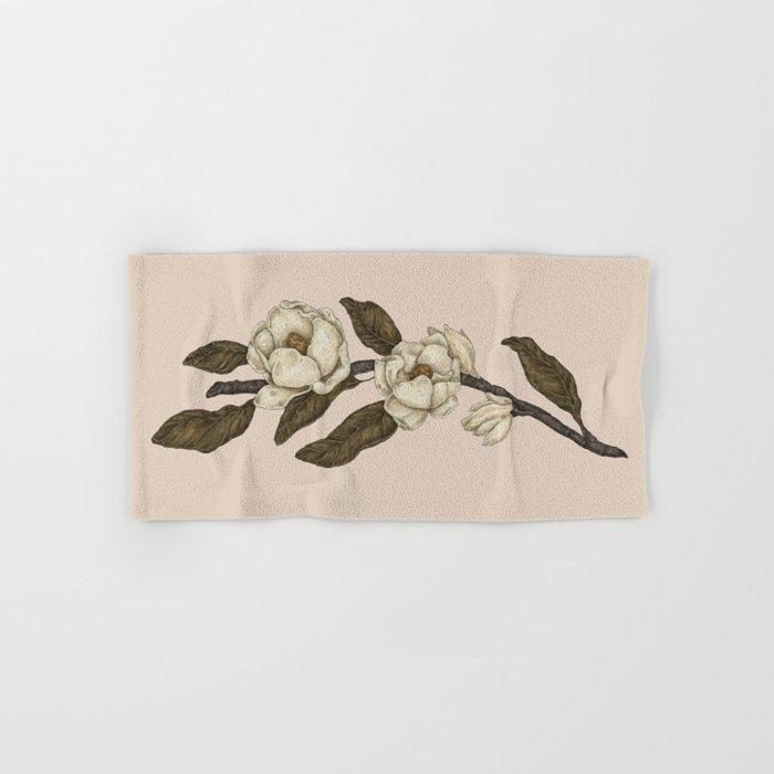 Magnolias Branch Hand & Bath Towel