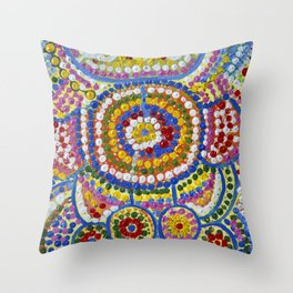 ELDERS MEETING OF THE DREAMING 2 Throw Pillow