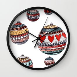 Baubles Wall Clock