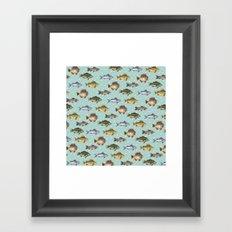 Watercolor Fish Framed Art Print