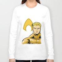 aquaman Long Sleeve T-shirts featuring Aquaman by J. J.