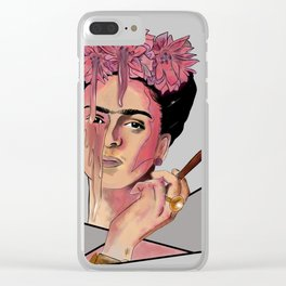 Paint Me, Frida Clear iPhone Case