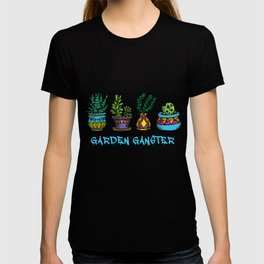 Gardener Landscaper Horticulturist Botanist Garden Gangster T-shirt