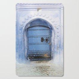 Blue Door / Porte originale/ Chefchaouen / by WHITEECO Ecologic design Cutting Board