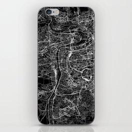 Prague Black Map iPhone Skin