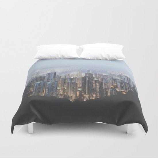 Hong Kong (Pixel Sorted) Duvet Cover