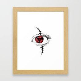 Sharingan Eyes Framed Art Print