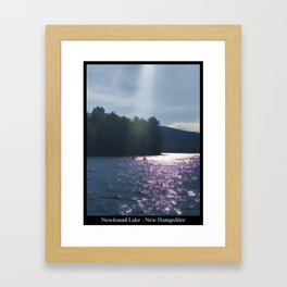 Kayakers on Newfound Lake Framed Art Print