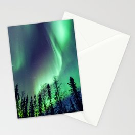 Northern Lights in Yellowknife Stationery Cards