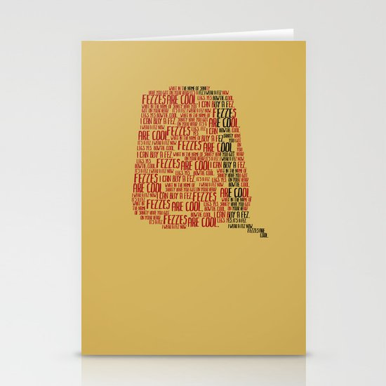 Fezzes are cool (Doctor Who) Stationery Cards