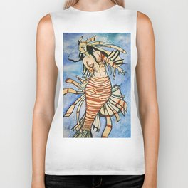 Lionfish Mermaid Biker Tank