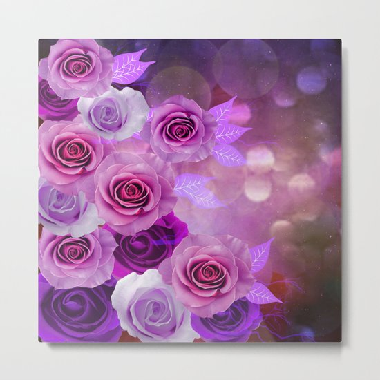 Rose Glow Abstract Metal Print