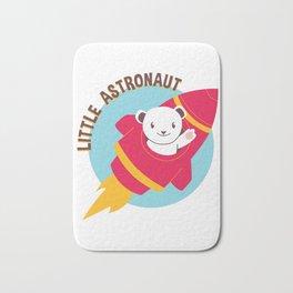 Little Astronaut Baby Polar Bear Rocket Bath Mat