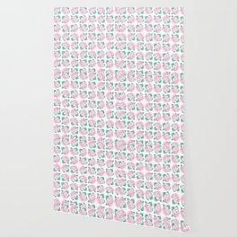 Pattern N' Roses Wallpaper