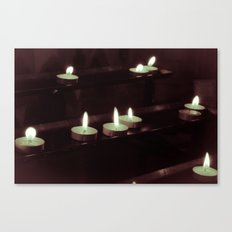 split toning candels Canvas Print