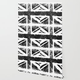 Black UK flag Wallpaper