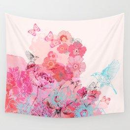 Pluie de Fleurs Wall Tapestry