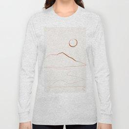 Minimal Line Art Landscape Long Sleeve T-shirt