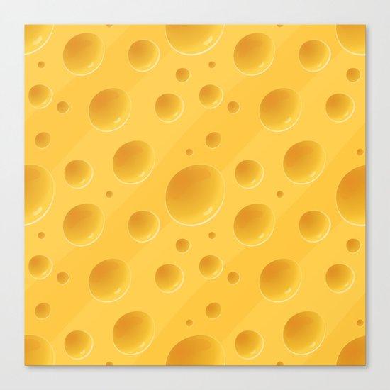 Orange Cheese Texture - Food Pattern Canvas Print