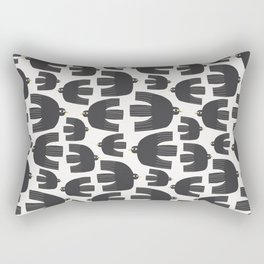 Black Birds Rectangular Pillow