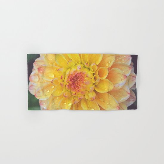 Pretty Yellow Dahlia Hand & Bath Towel