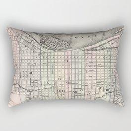 Vintage Map of Louisville Kentucky (1884) Rectangular Pillow