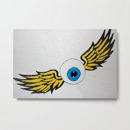 the flying eye Metal Print