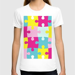 puzzle pieces jigsaw T-shirt