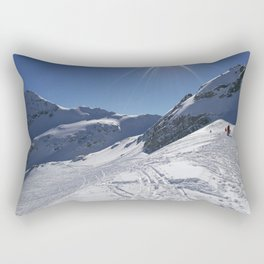 Up here, with sun and snow Rectangular Pillow