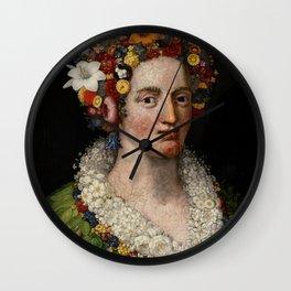 "Giuseppe Arcimboldo ""Flora"" Wall Clock"