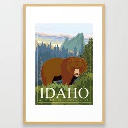 IDAHO Travel Poster Framed Art Print