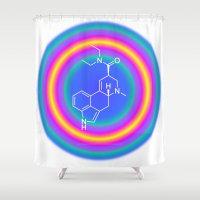 lsd Shower Curtains featuring LSD drop by moleculestore